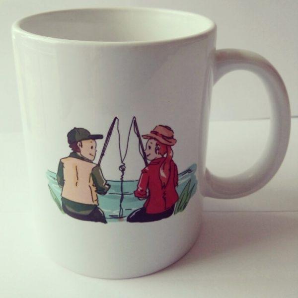 Mug pêche en couple