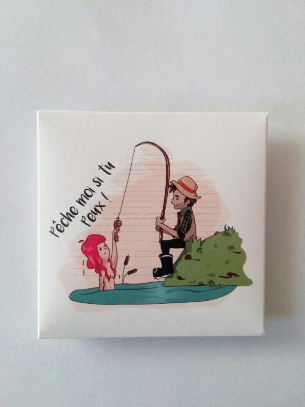 préservatif humoristique pêche