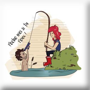 Préservatif illustré humoristique pêche