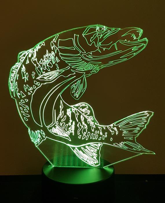 Lampe Kisskissmetal Brochet Led 3d Illusion H29IEWD