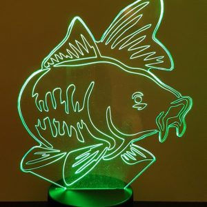 Lampe 3d led illusion Carpe KissKissMetal
