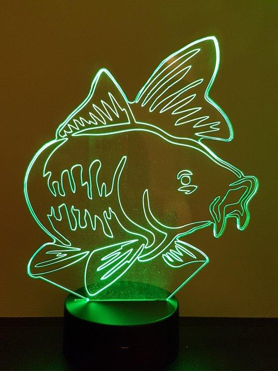 lampe 3D /à LED Silure