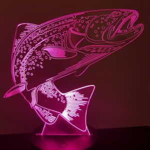 Lampe 3d led illusion Truite KissKissMetal