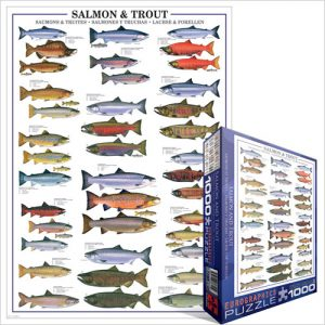 Puzzle Salmon and Trout 1000 pièces Eurographics
