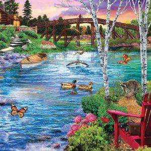 Puzzle Bridge Fishing 1000 pièces Sunsout