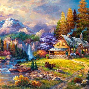 Puzzle Cottage Mountain Hideaway 1500 pièces Castorland