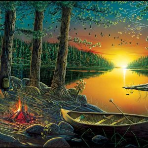 Puzzle Ervin Molnar – Evening by the Lake 550 pièces Sunsout