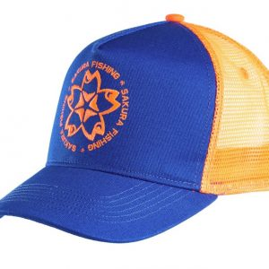 Casquette Trucker Sakura Bleu/Orange