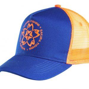 Casquette Trucker Sakura Bleu/Orange